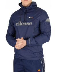 Ellesse - Men's Berto 2 Overhead Jacket, Blue Men's Jacket In Blue - Lyst