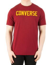 Converse - Red Graphic T-shirt - Lyst