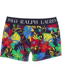 Polo Ralph Lauren - Cruise Navy Classic Stretch Cotton Hibiscus Logo Trunks - Lyst
