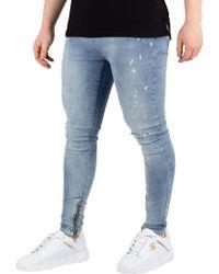 Religion - Broken Blue Edge Jeans - Lyst