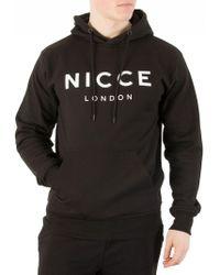 Nicce London - Black Logo Hoodie - Lyst