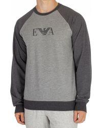 Emporio Armani - Grey Melange Graphic Sweatshirt - Lyst