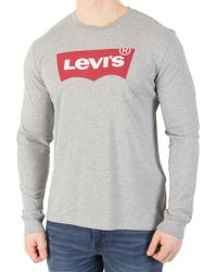 Levi's - Better Midstone Longsleeved Graphic T-shirt - Lyst