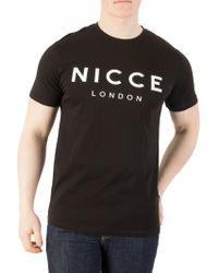 TOPMAN - Nicce Classic Black T-shirt - Lyst