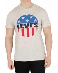 Levi's - Light Grey Graphic T-shirt - Lyst