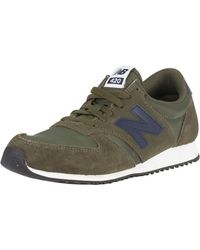 New Balance - Covert Green/pigment 420 Suede Trainers - Lyst