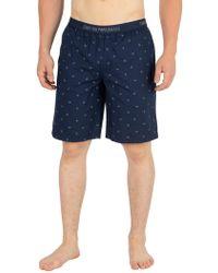 Emporio Armani - Marine Bermuda Pyjama Shorts - Lyst