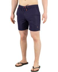 6e94c2f412 Scotch & Soda - Navy Colourful Swim Shorts - Lyst