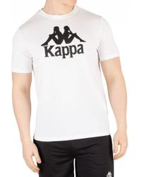 73e06093 Kappa Estessi Graphic T-shirt in Black for Men - Lyst