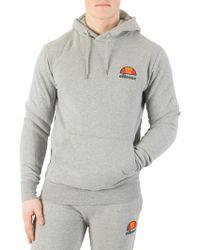 Ellesse - Athletic Grey Marl Miletto Zip Logo Hoodie - Lyst