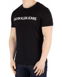 Calvin Klein - Black Core Institution Logo T-shirt - Lyst