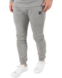 11 Degrees - White Noise Composite Skinny Marled Joggers - Lyst