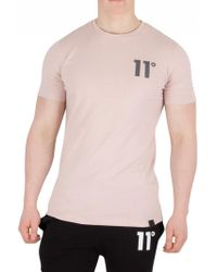 11 Degrees - Dusty Pink Core T-shirt - Lyst