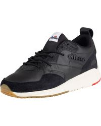 Ellesse - Black Potenza Leather Trainers - Lyst