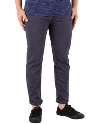 Superdry - Washed Out Navy Slim Rip & Repair Chinos - Lyst