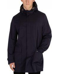 Aquascutum - Men's Dexter Parka Jacket, Blue Men's Jacket In Blue - Lyst