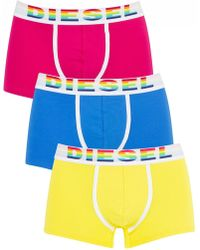 DIESEL - Yellow/blue/pink 3 Pack Damien Fresh & Bright Trunks - Lyst