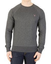 GANT - Dark Antracit Original Sweatshirt - Lyst