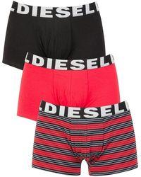 DIESEL - Stripe/red/black 3 Pack Shawn Seasonal Edition Trunks - Lyst