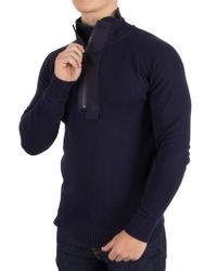 G-Star RAW - Sartho Blue Empral 1/2 Zip Knit - Lyst