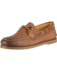 Sperry Top-Sider Tan 2-eye Titan Leather Boat Shoes