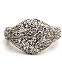 Loree Rodkin - Small All Pave Signet Ring - Lyst