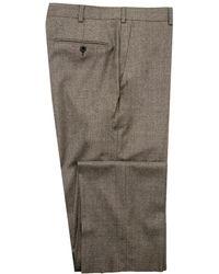 Belvest - Taupe Flannel Dress Pant - Lyst