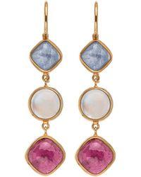 Darlene De Sedle - Triple Drop Multi Gemstone Earrings - Lyst