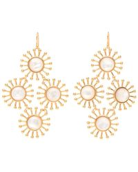 Nest | Starburst Mother Of Pearl Earrings | Lyst