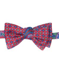 Edward Armah | Red Paisley Neat Reversible Bow Tie | Lyst