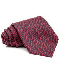 RVR | Navy And Red Geometric Tie | Lyst