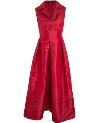 Valentina Kova   Red Daria Silk Taffeta Dress   Lyst