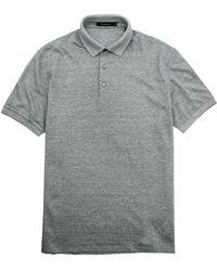 Ermenegildo Zegna - Grey Check Jersey Knit Polo - Lyst