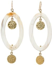 Ashley Pittman - Mstari Light Horn Earrings - Lyst