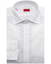 Isaia - White Seersucker Dress Shirt - Lyst