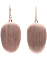 Ted Muehling - Rose Gold Large Chip Earrings - Lyst