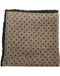 Eleventy - Tan Dotted Pocket Square - Lyst