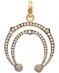 Sylva & Cie - Double Horseshoe Diamond Pendant - Lyst