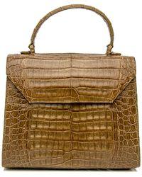 Nancy Gonzalez - Olive Crocodile Top Handle Bag - Lyst