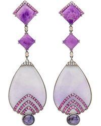 Wendy Yue | Purple Jade Drop Earrings | Lyst