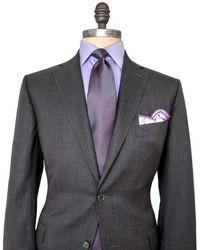 Belvest - Charcoal Micro Stripe Suit - Lyst