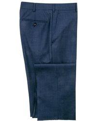Belvest - Navy Melange Dress Pant - Lyst