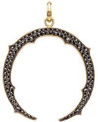 Sylva & Cie - Black Diamond Horseshoe Pendant - Lyst