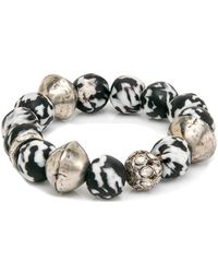Hannah Ferguson - Bracelet With Diamond Polki Ball - Lyst