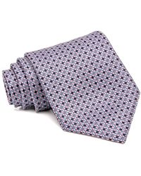 Brioni - Pink And Blue Checkered Tie - Lyst