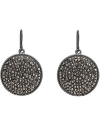 Nest - Pave Disk Drop Earrings - Lyst