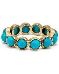 Sylva & Cie - Turquoise Band Ring - Lyst