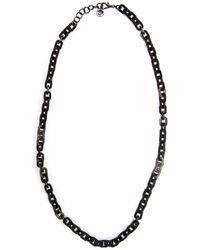Nest | Black Horn Rectangular Link Necklace | Lyst