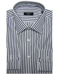 Marol - Green And Navy Stripe Dress Shirt - Lyst