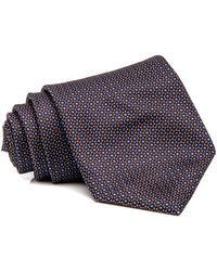 Brioni - Chocolate And Blue Dot Tie - Lyst